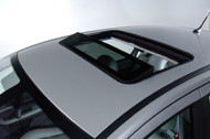 A TVS-900 sunroof, fully-open